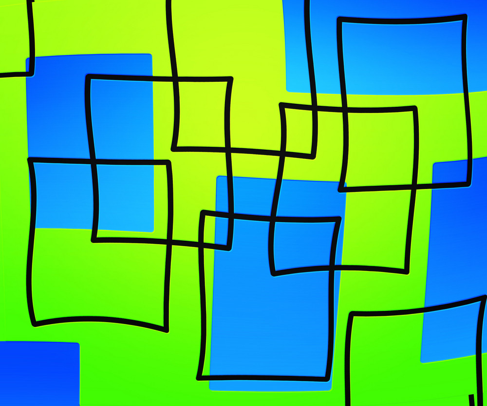 Green Artistic Squares Background