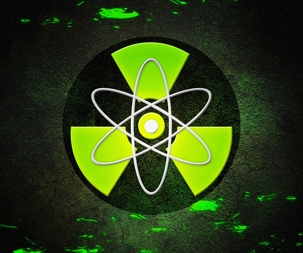 Green Atom Radioactive Background