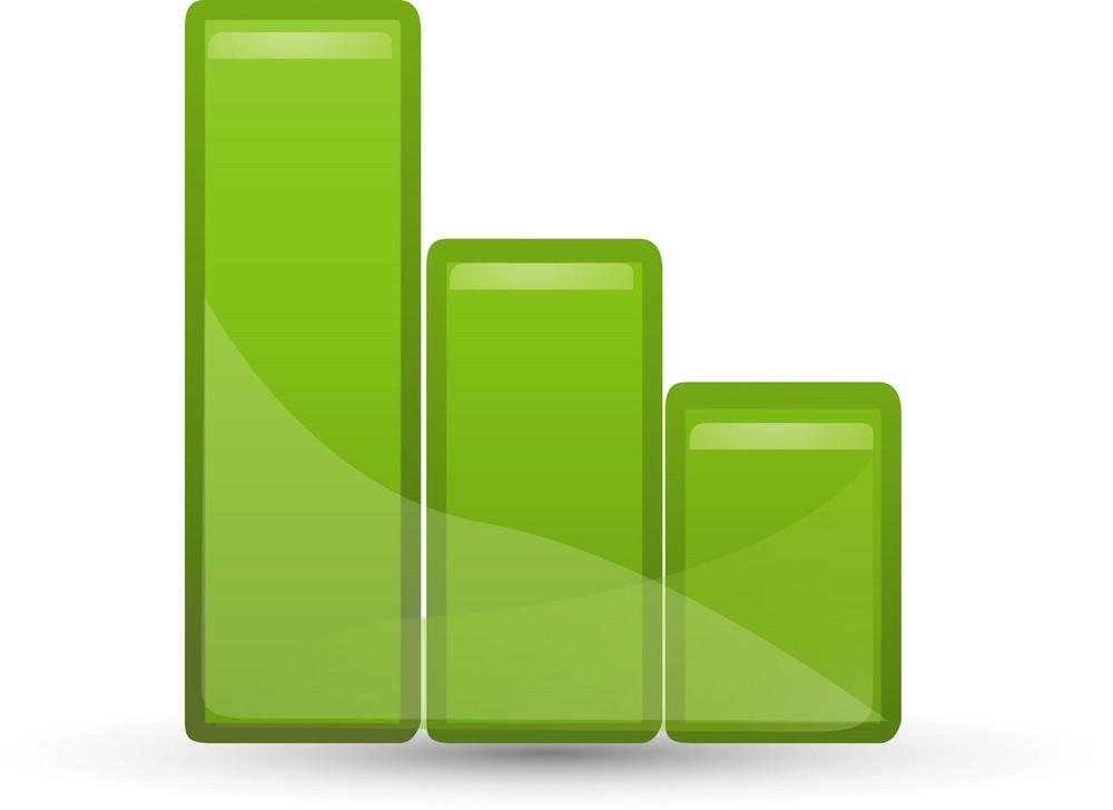 Green Bar Graph Lite Application Icon