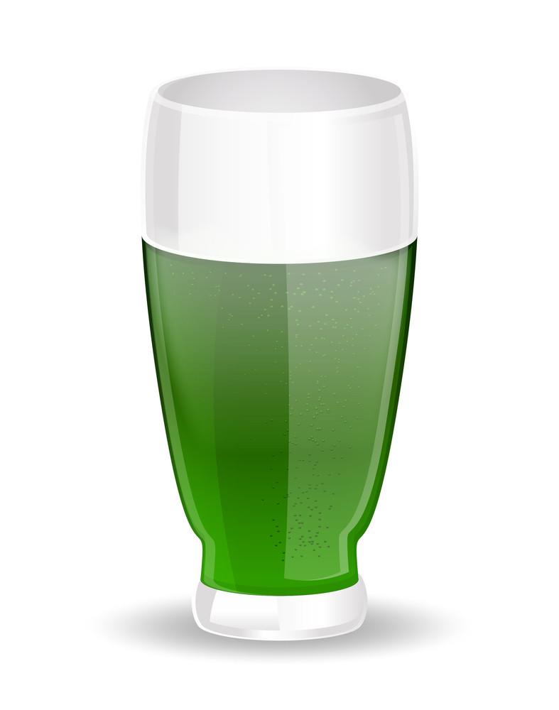 Green Beer Glass Vector