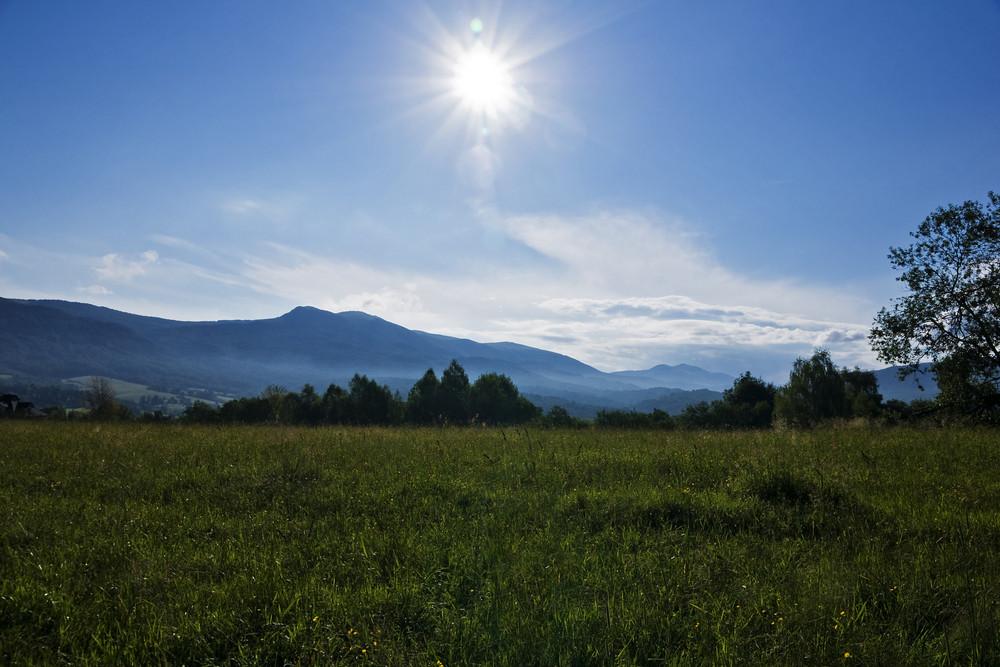 Green Bieszczady Mountains In Poland