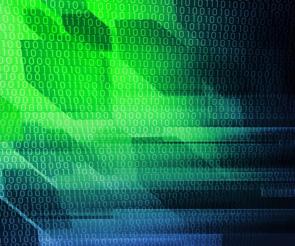 Green Binary It Background