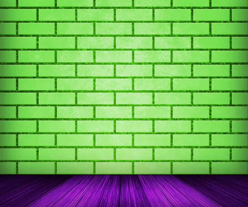 Green Brick Room Backdrop