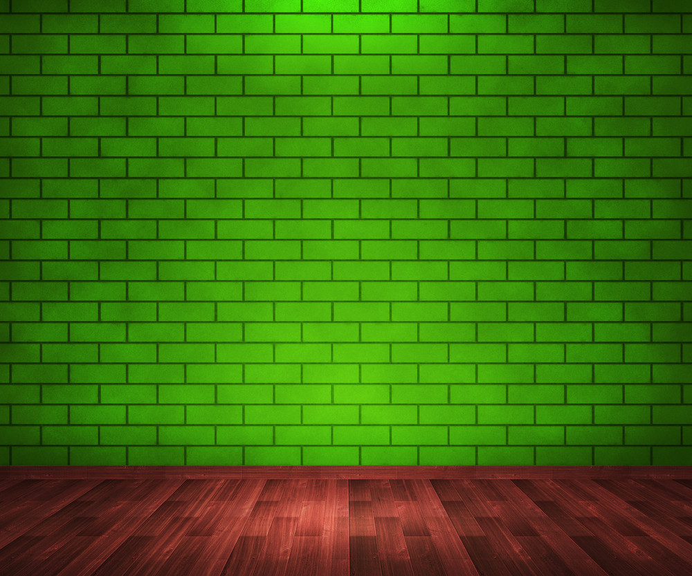 Green Brick Room Background