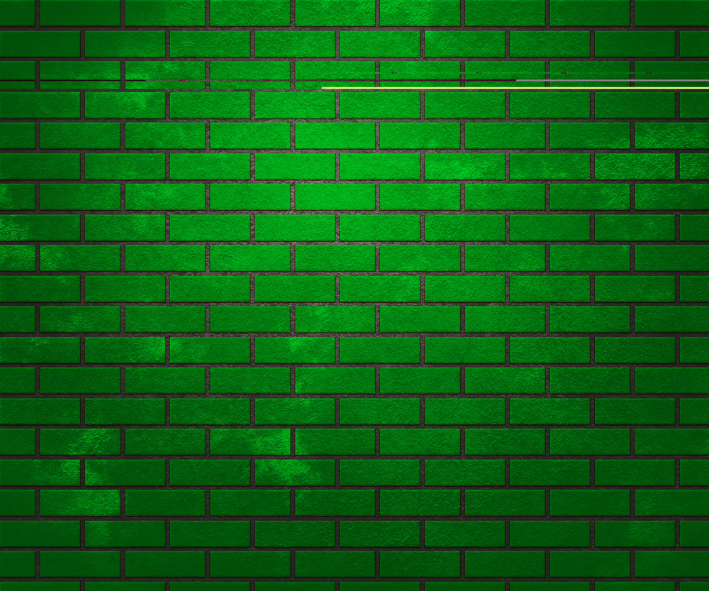 Green Brick Wall Texture