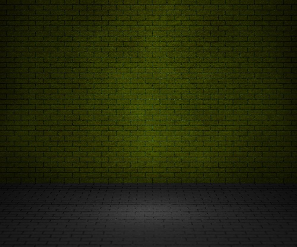 Green Bricks Interior Background