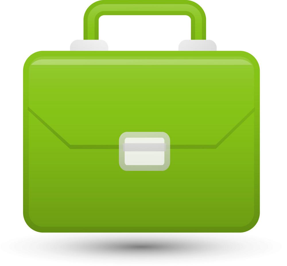Green Briefcase Lite Communication Icon