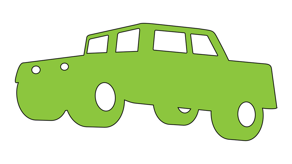 Green Car Shape
