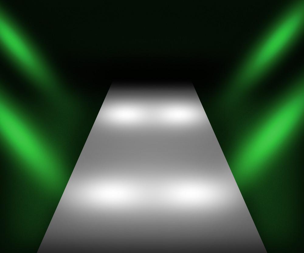 Green Catwalk Background