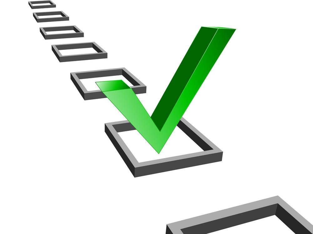 Green Check Mark Vector Illustration