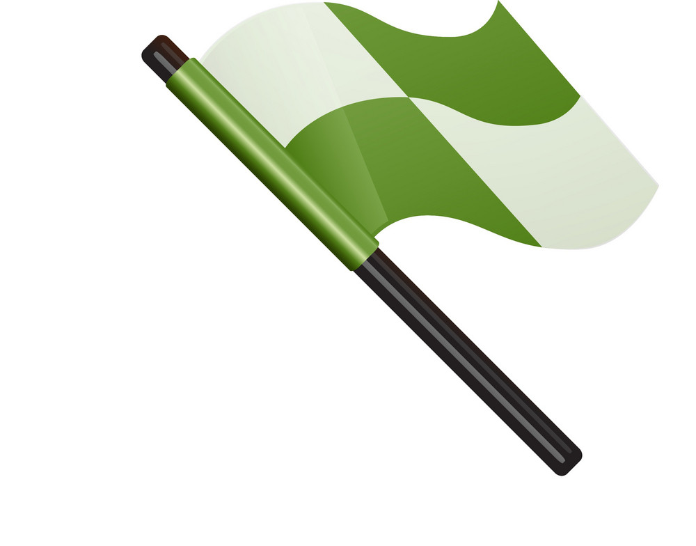 Green Checkered Flag