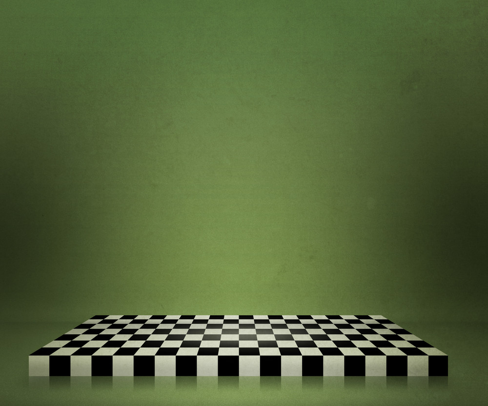 Green Chessboard Stage Background