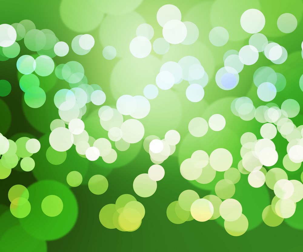 Green Clear Bokeh Background