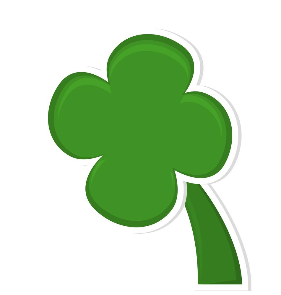 Green Clover Leaf Shape Element