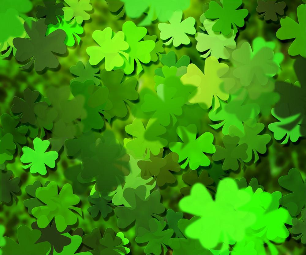 Green Clover Texture Background