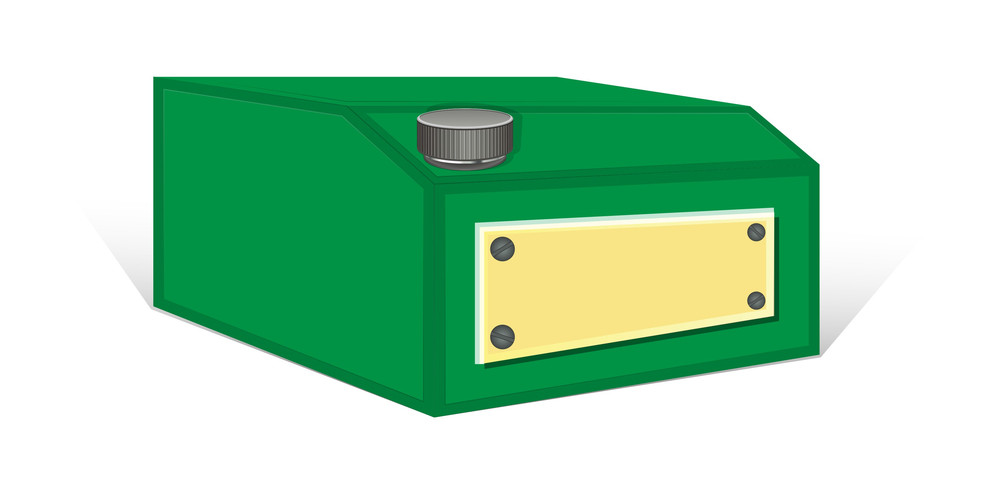 Green Container Vector