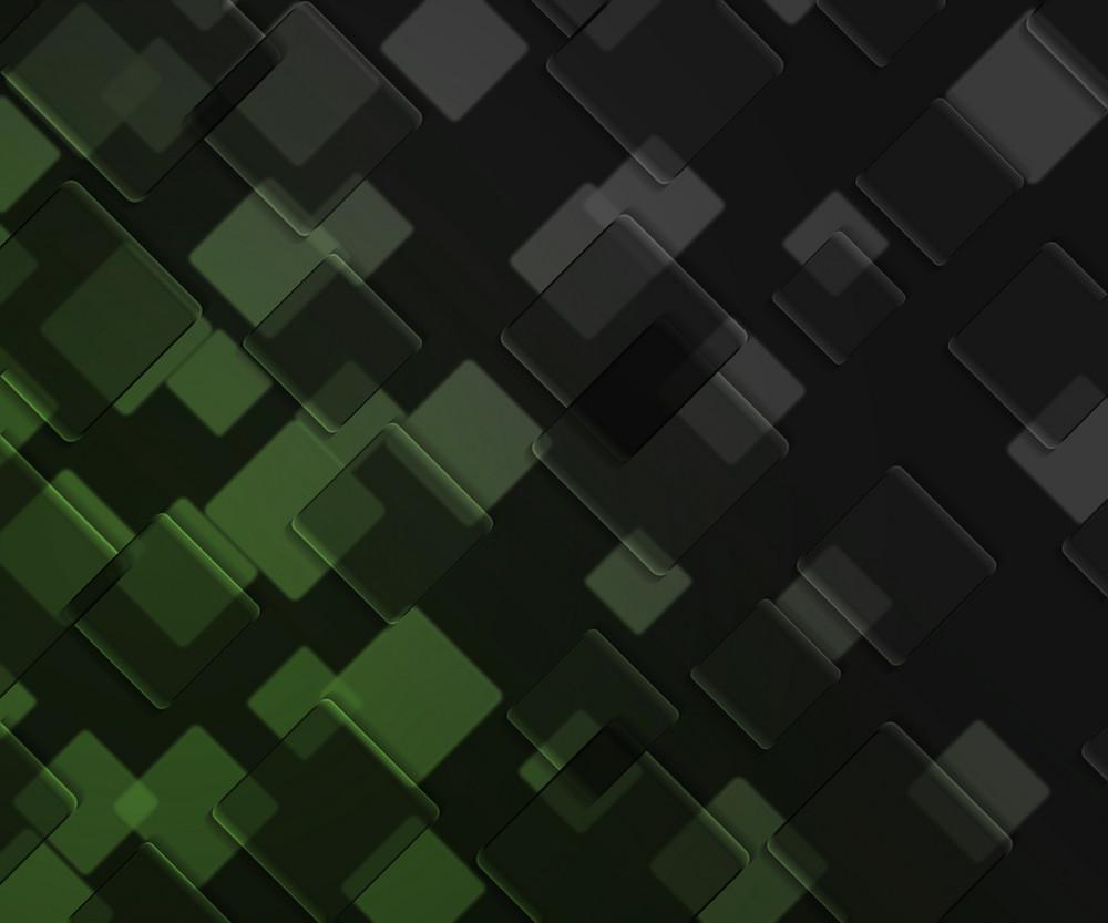 Green Dark Squares Background