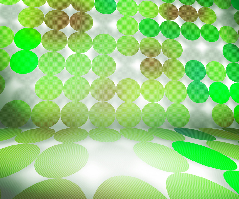 Green Dots Stage Background