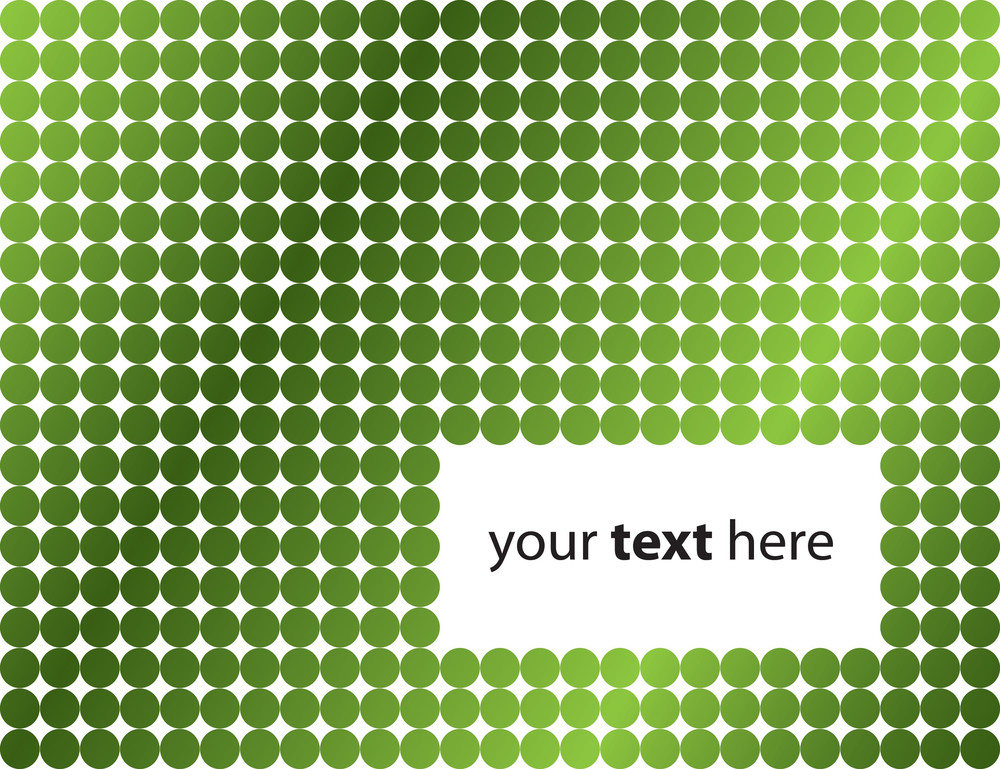 Green Dotted Stylish Background