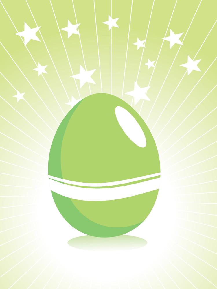 Green Easter Egg Backround