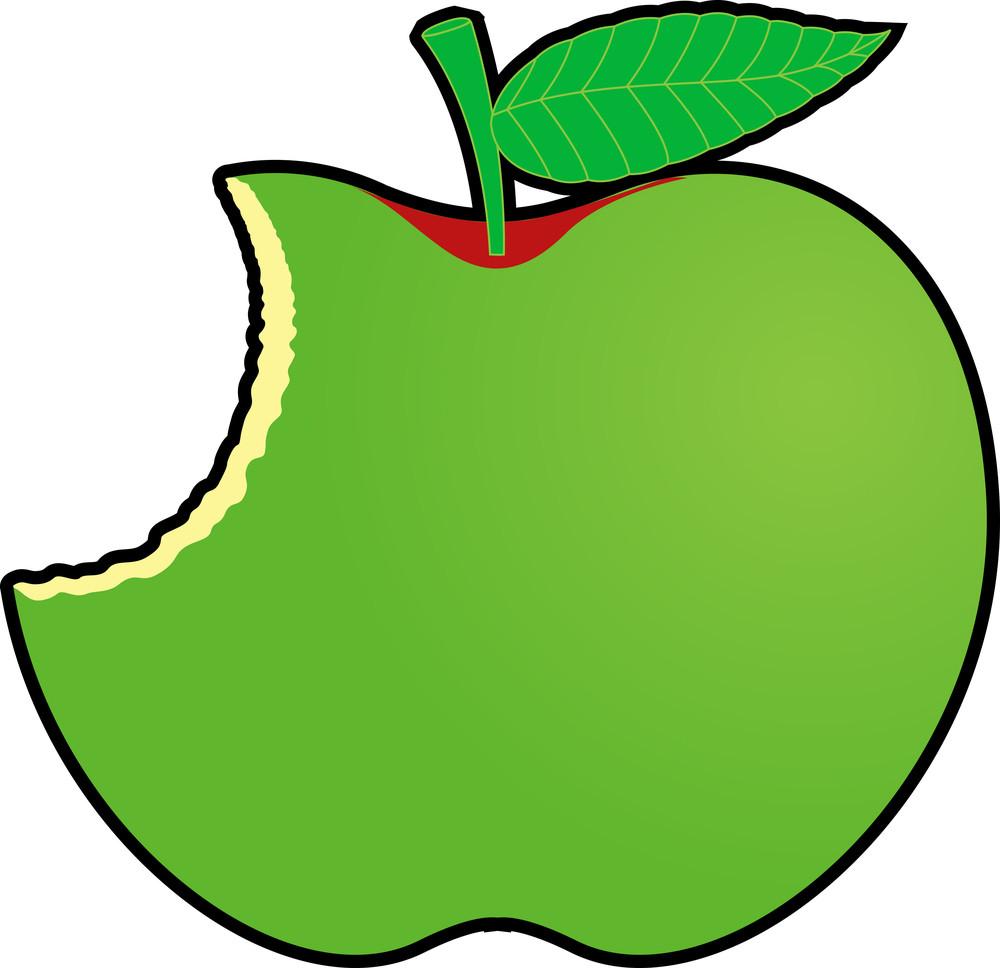 Green Eaten Apple Design