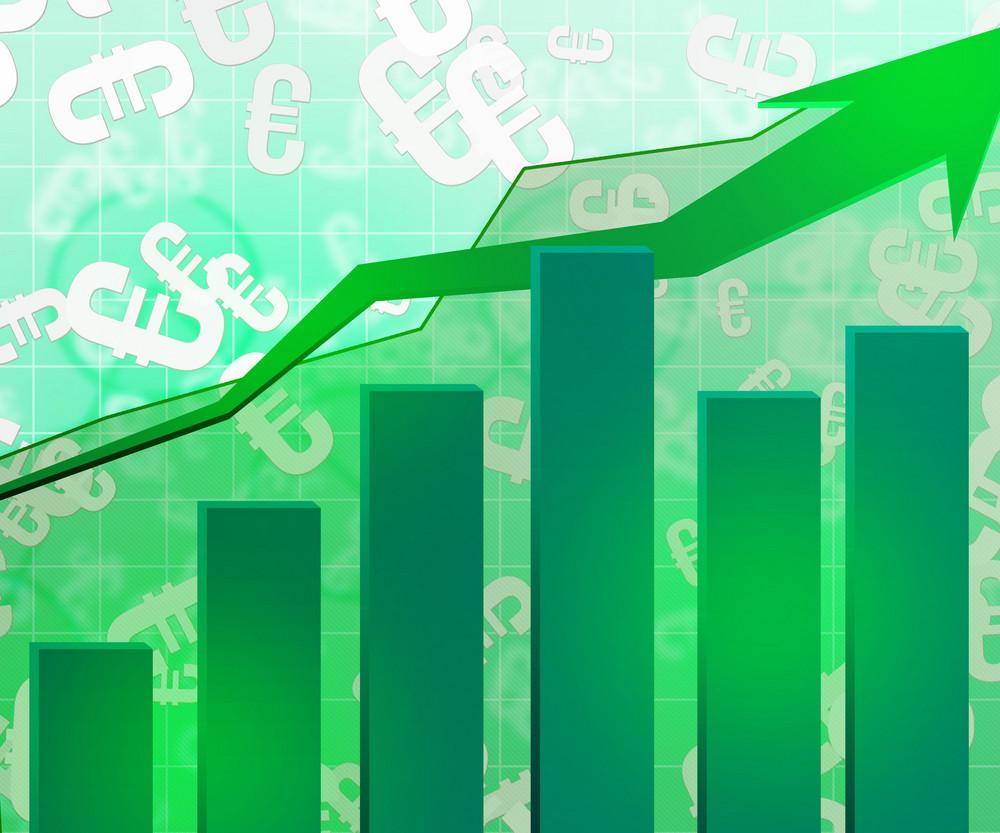 Green Economic Graph Background