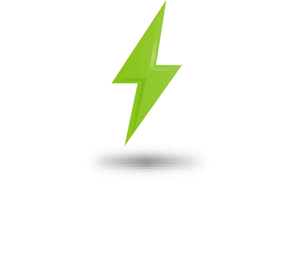 Green Electric Bolt Lite Plus Icon