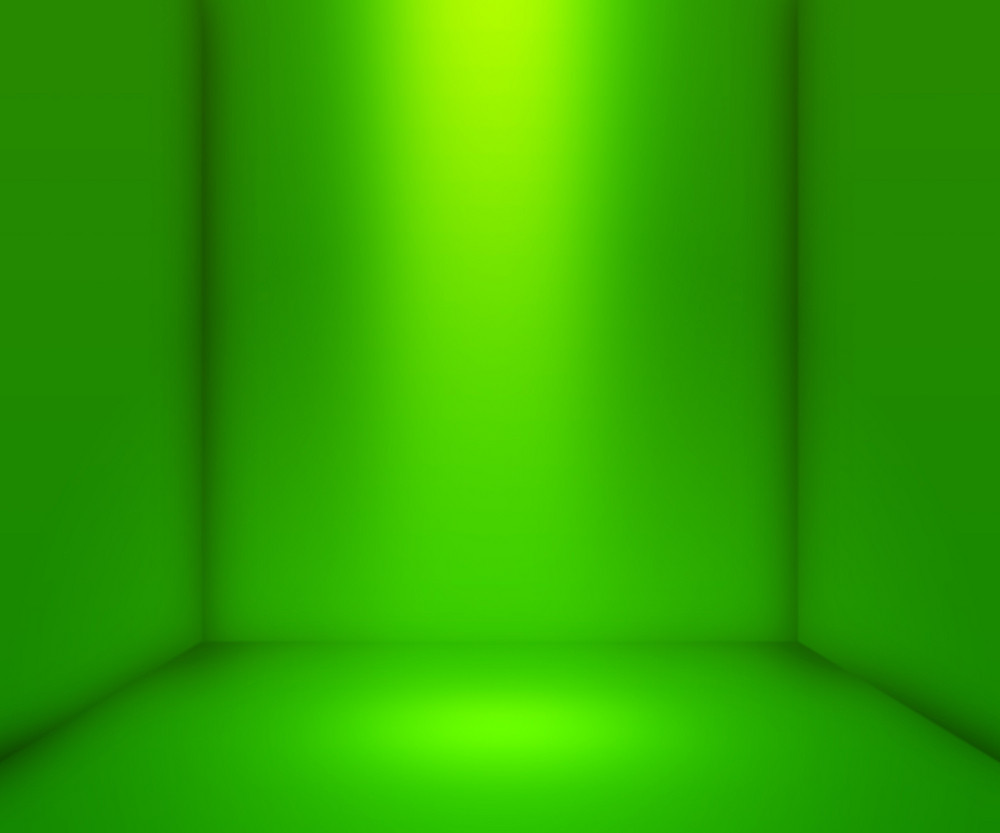 Green Empty Interior Background