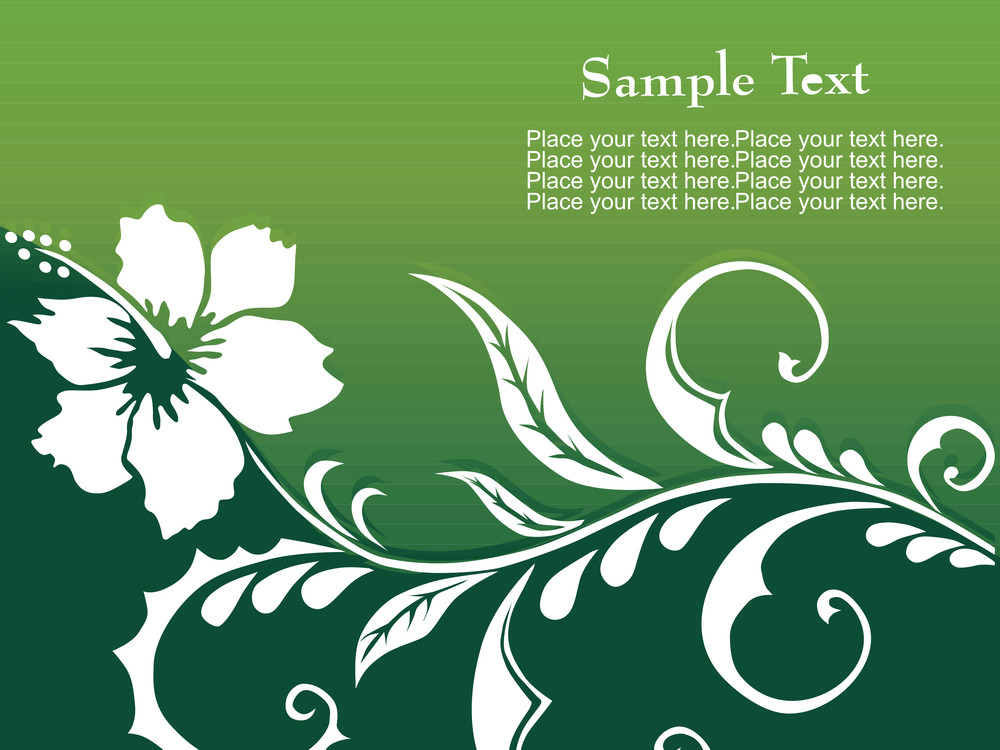 Green Floral Pattern Background