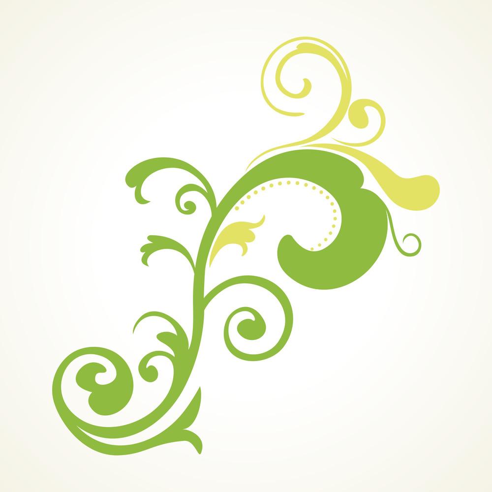 Green Floral Pattern Illustration