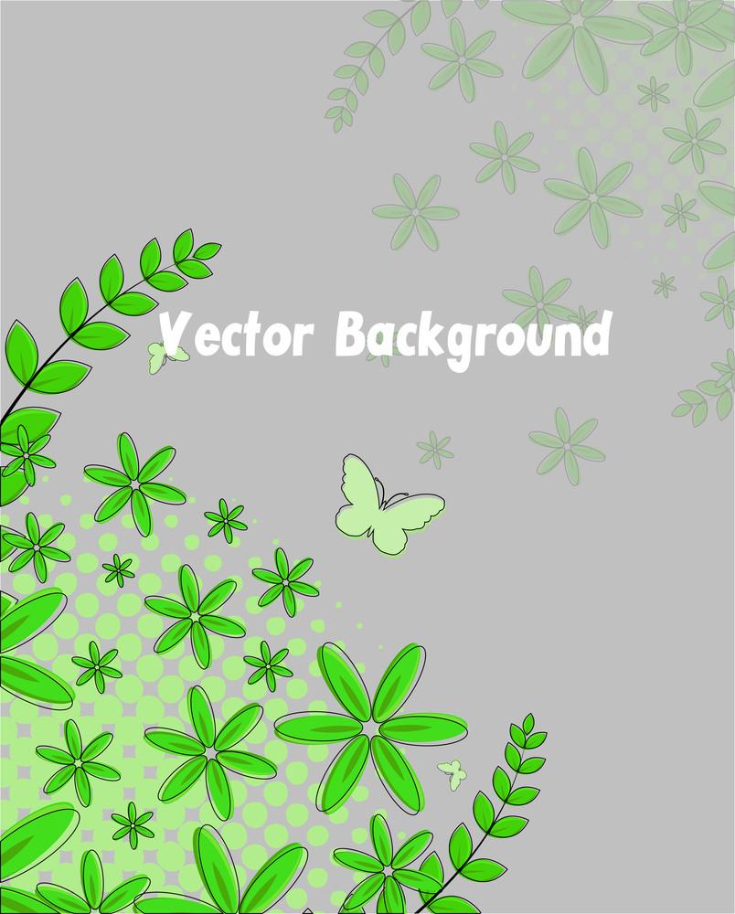 Green Flourish Background