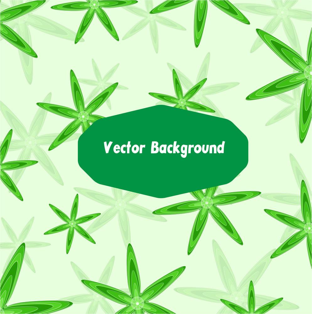 Green Flourish Banner Design