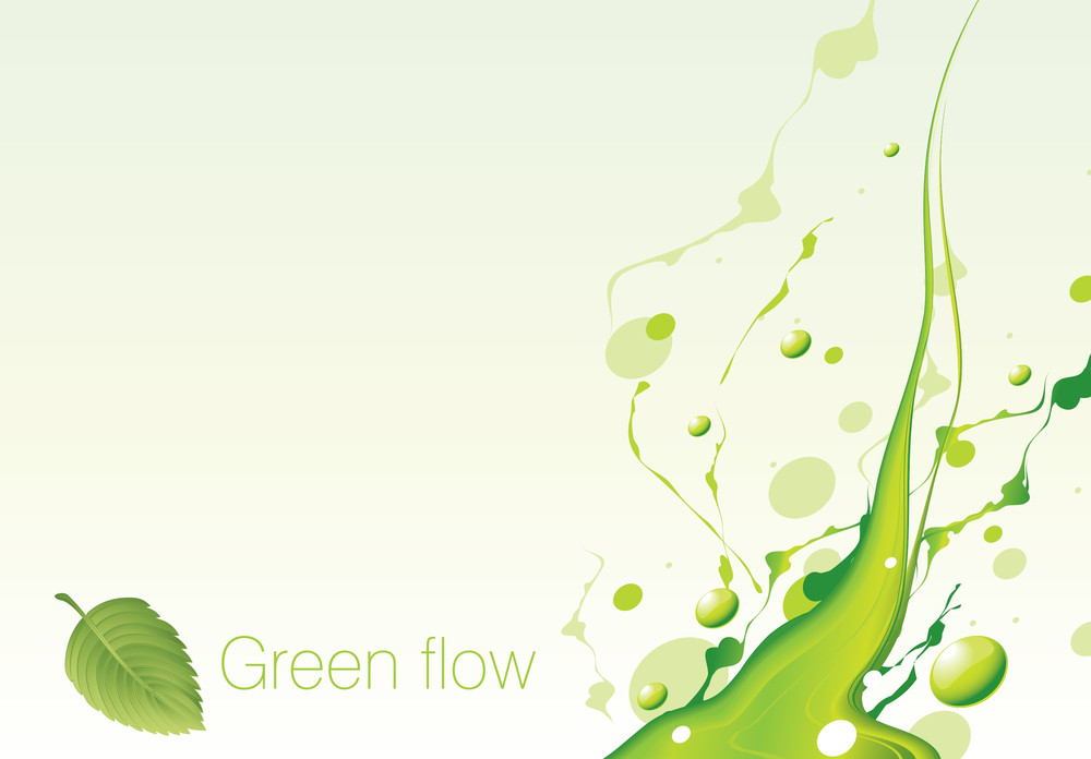 Green Flow. Vector.