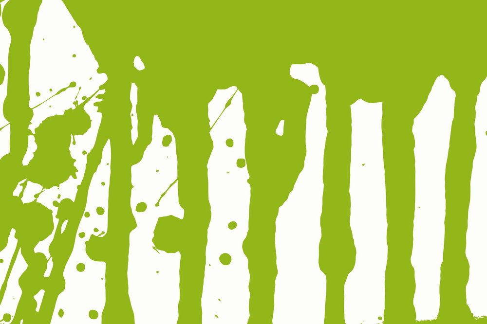 Green Flowing Ink