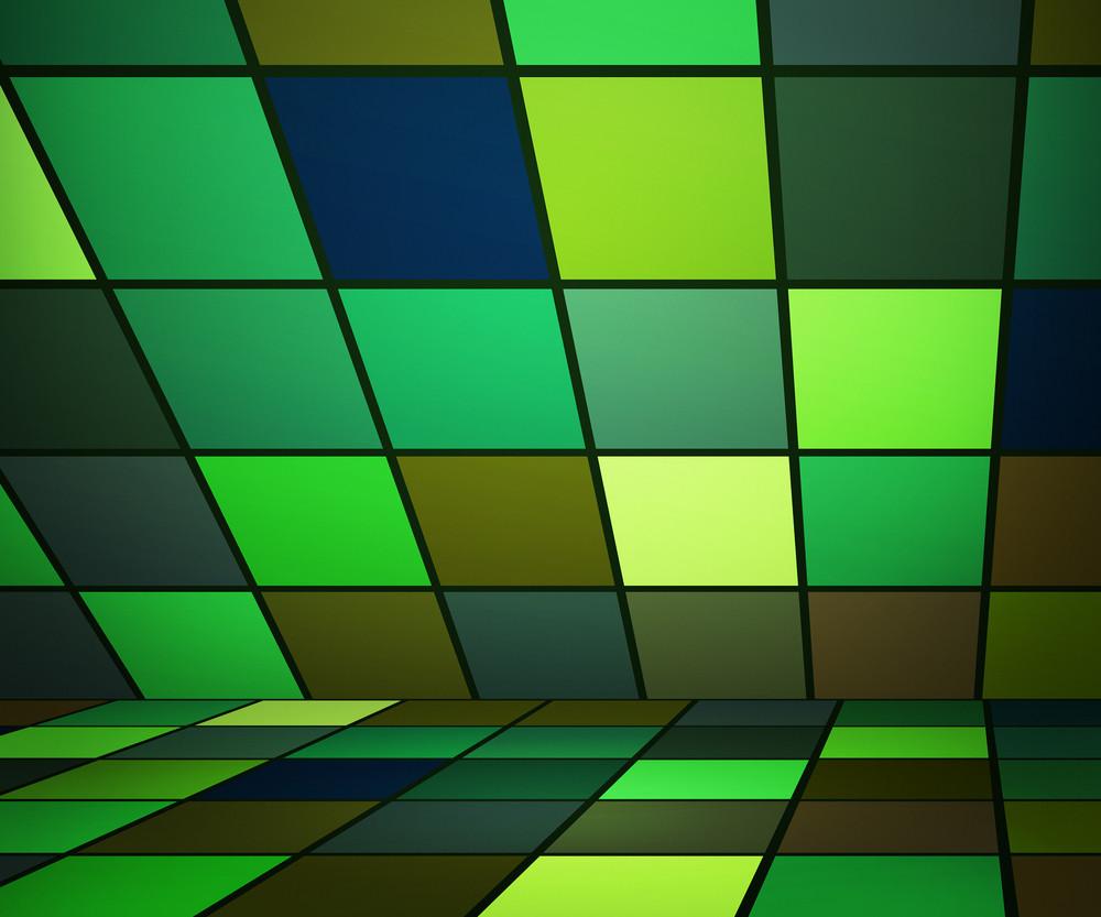 Green Futuristic Background