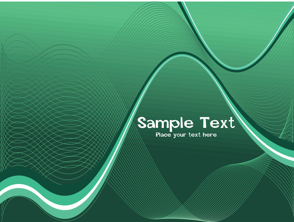 Green Futuristic Waves Background