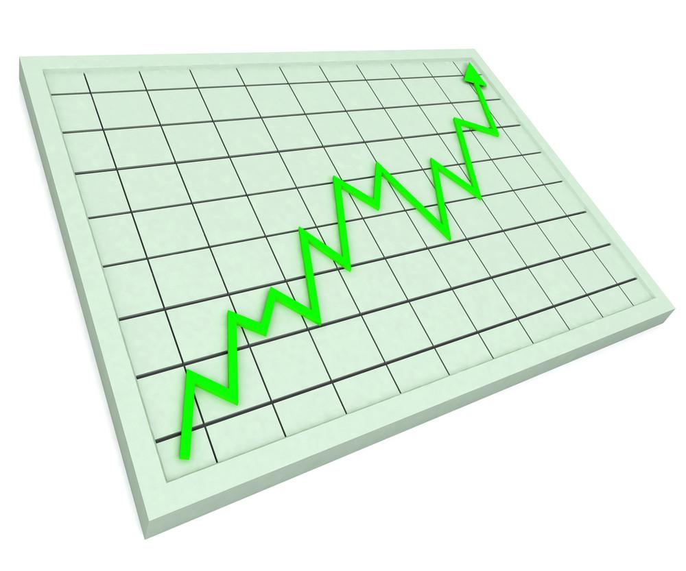 Green Graph Shows Profit Increase