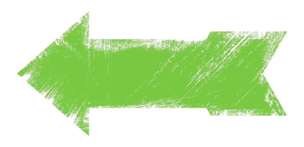 Green Grunge Arrow Vector