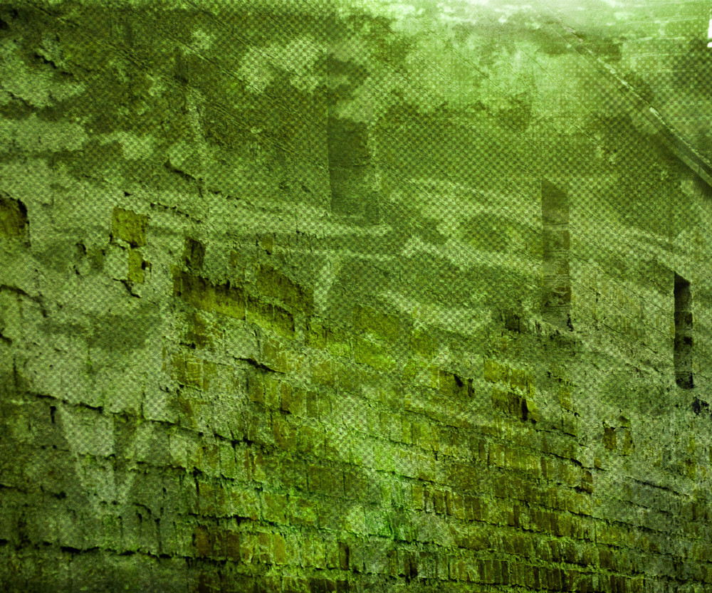 Green Grunge Urban Wall Background
