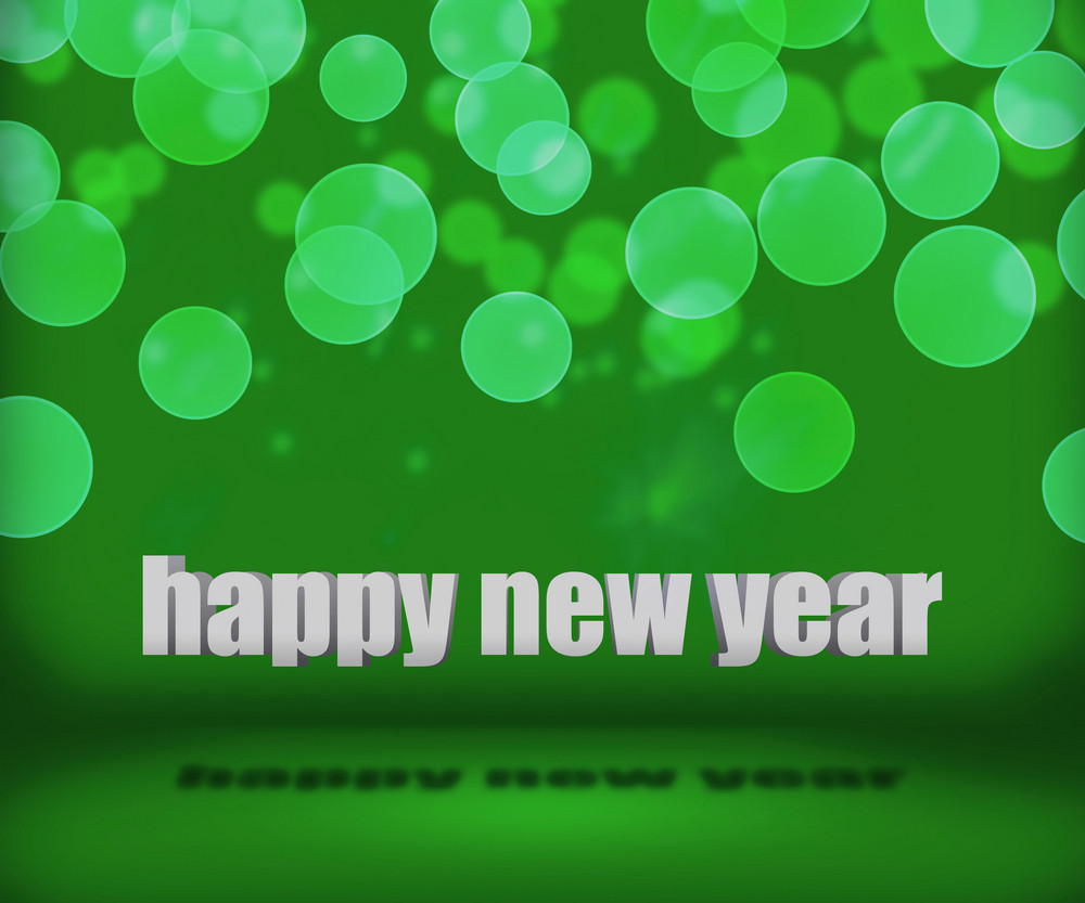 Green Happy New Year Background Stage