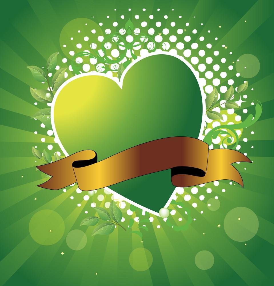 Green Heart Banner