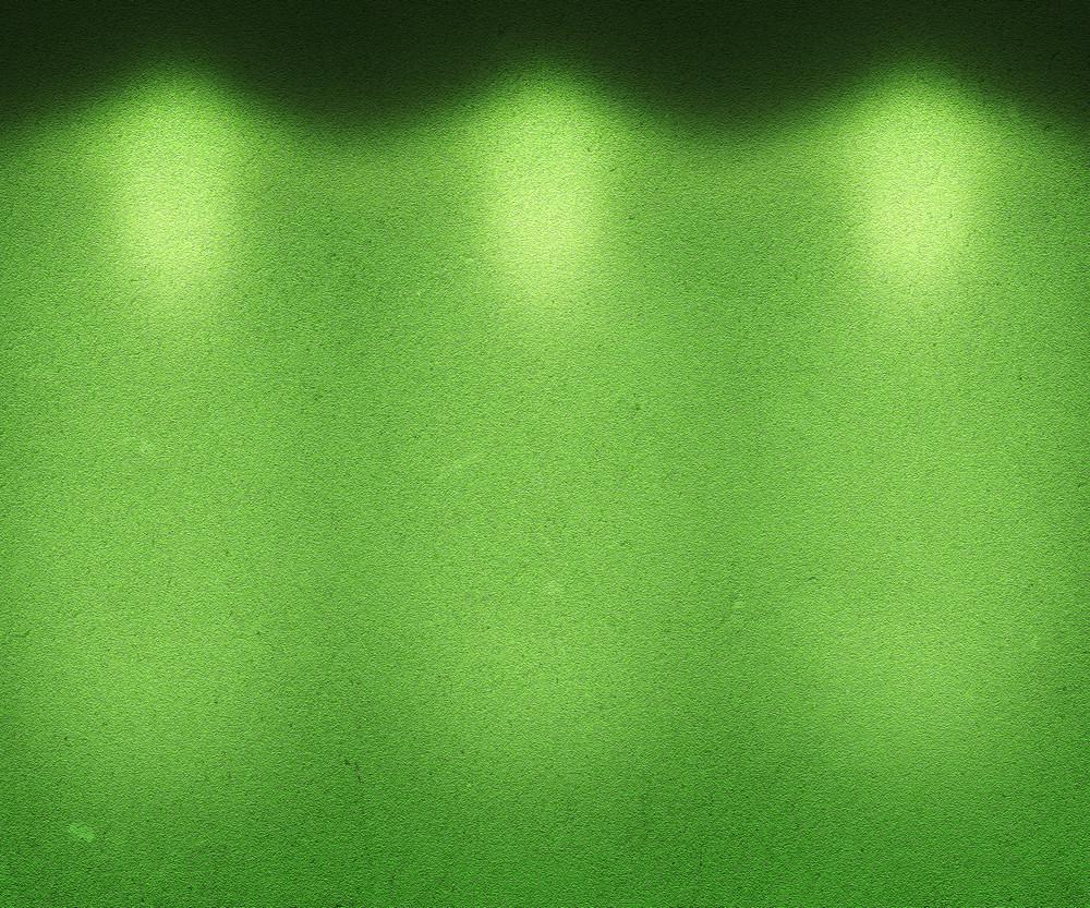 Green Illuminated Wall