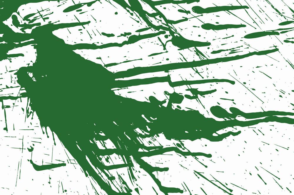 Green Ink Splashed