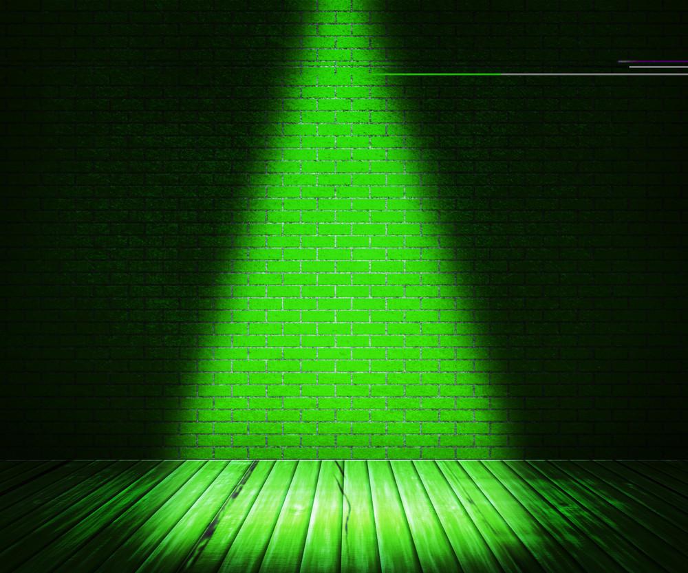 Green Interior Spotlight Background