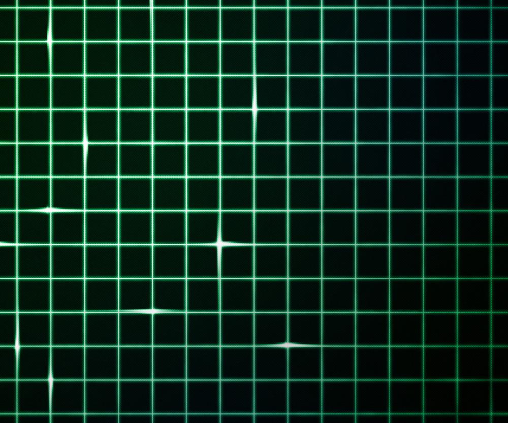 Green Laser Light Grid Background