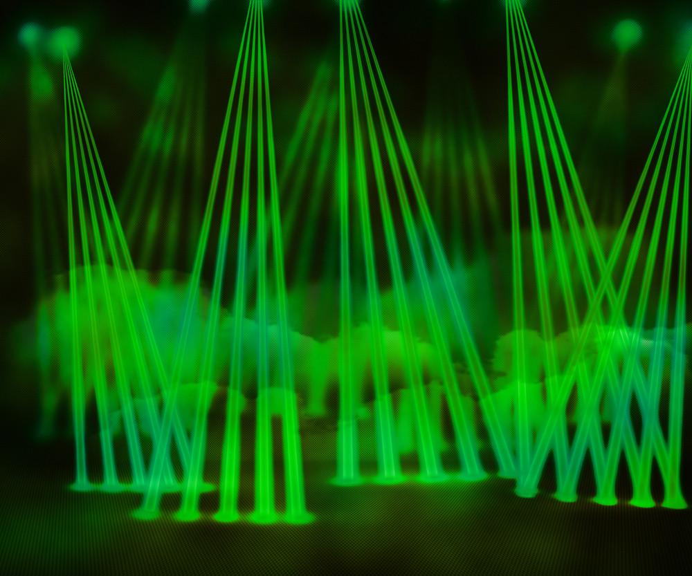 Green Laser Stage Background