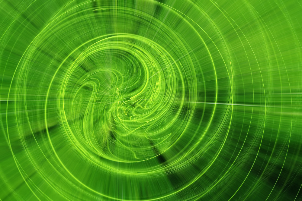 Green Lines Fractal Background