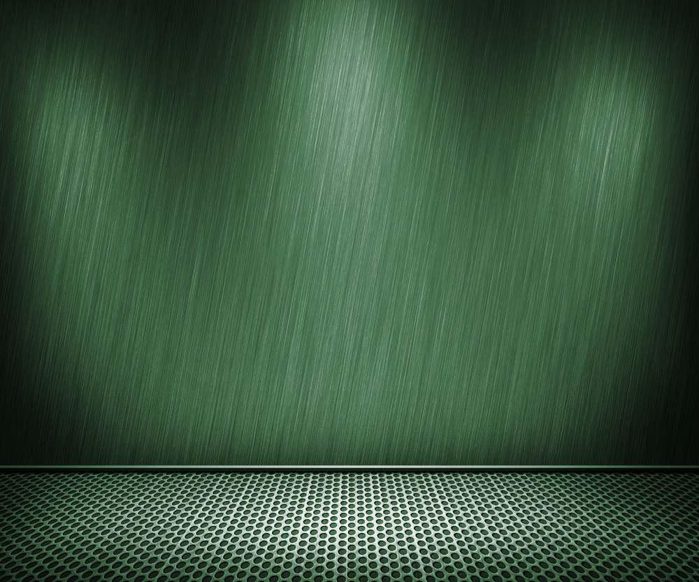 Green Metal Interior Background