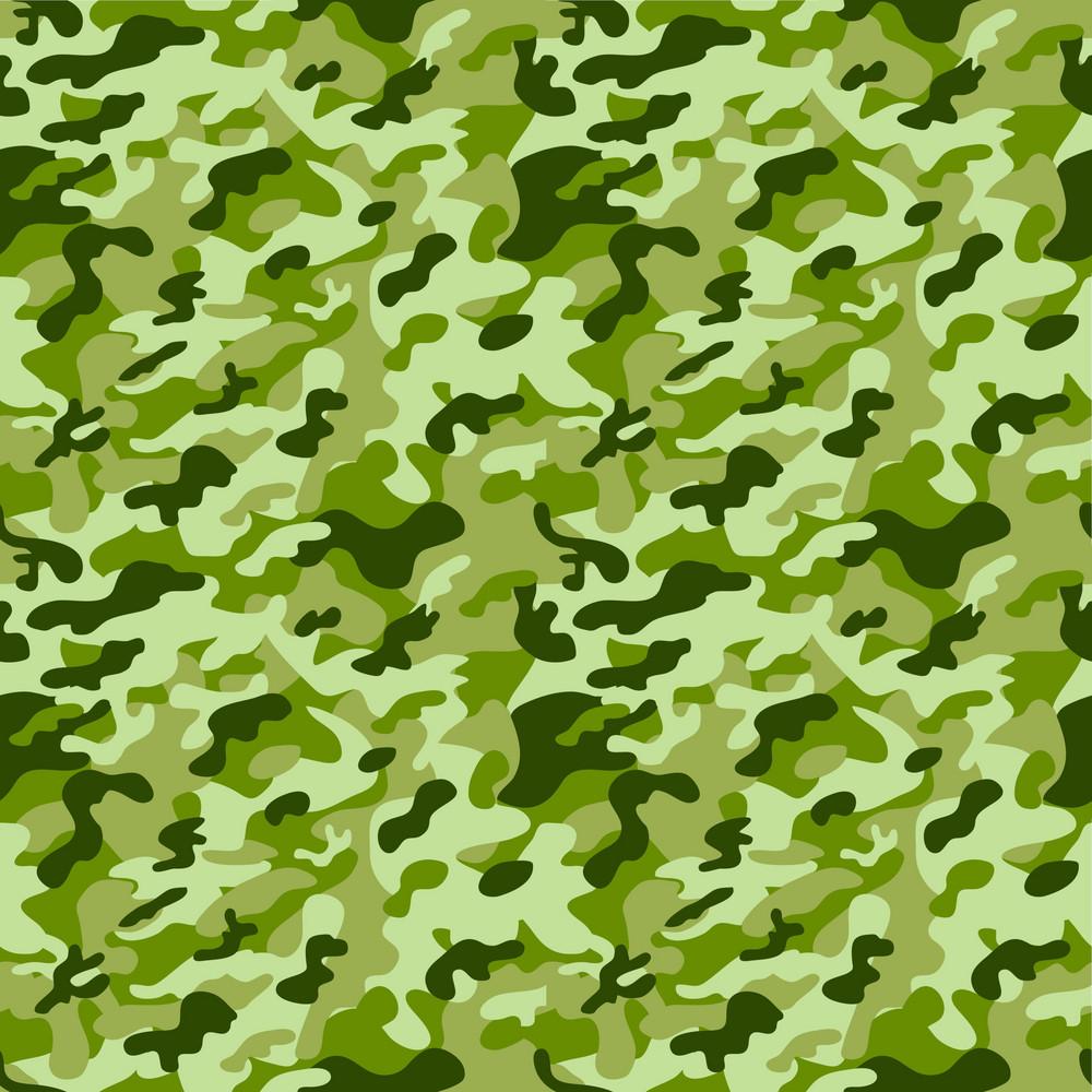 Green Monochrome Camouflage Pattern