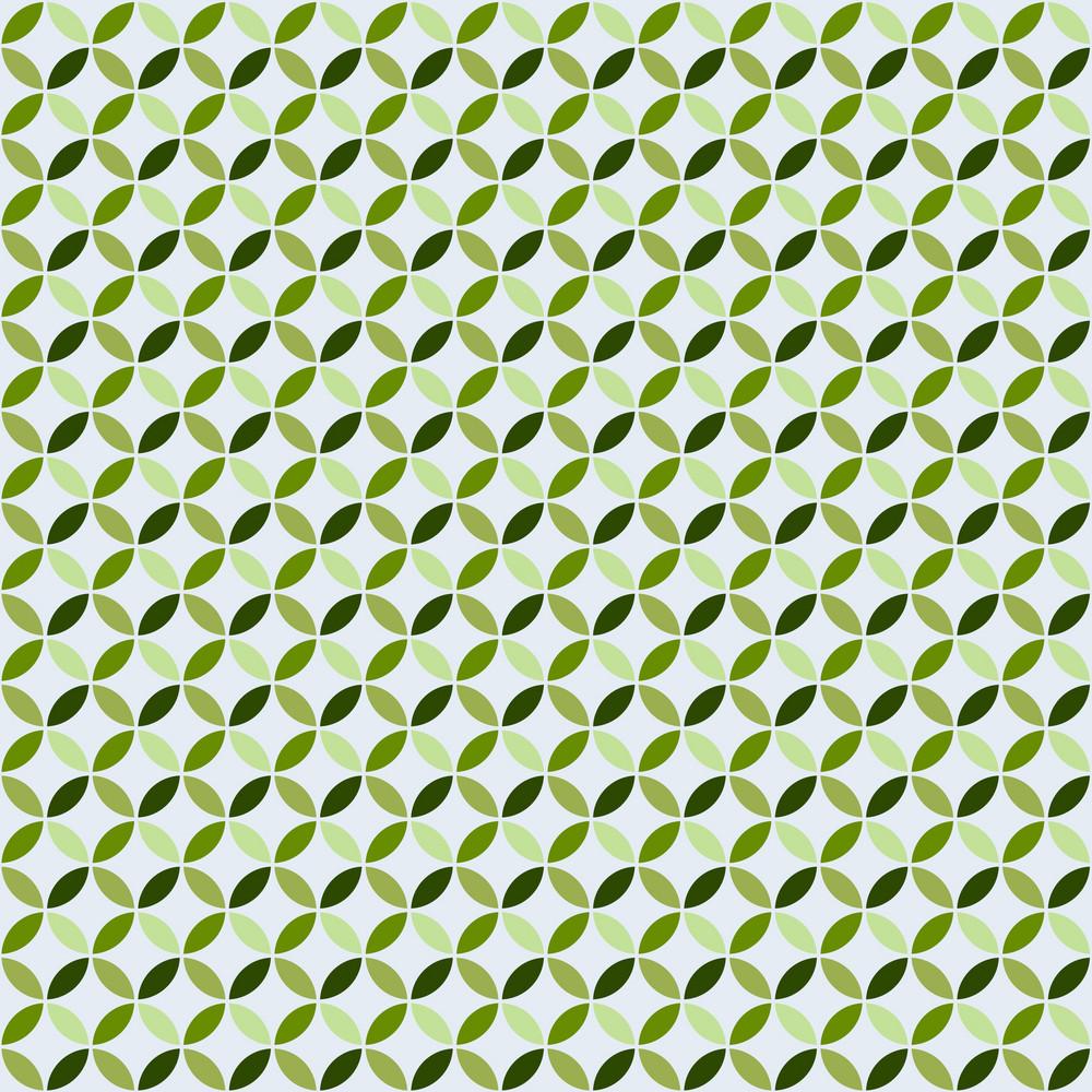 Green Monochrome Circles Pattern